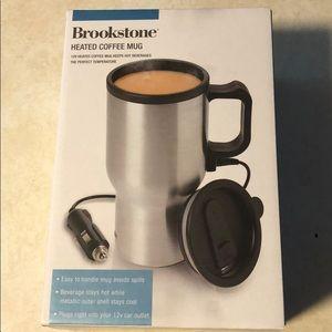 New in Box!! Brookstone Heated Coffee Mug